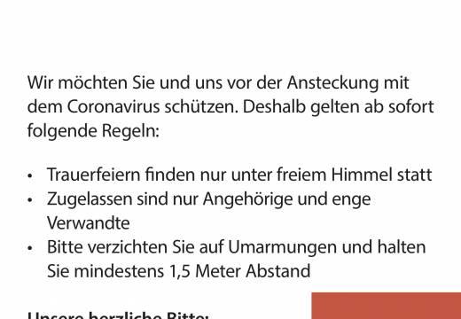 Neue Verordnung für Bestattungen auf den Tübinger Friedhöfen